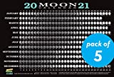 2021 Moon Calendar Card (5 pack): Lunar Phases, Eclipses, and More!