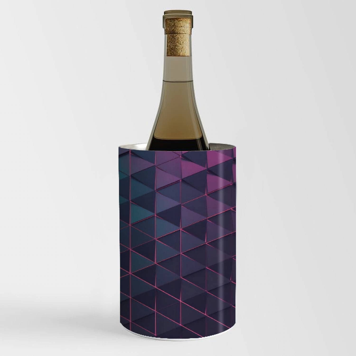Wine Chiller Bucket - Abstract shape Cha polygonal of background Wholesale 4 years warranty