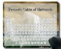 元素周期表科学化学チャートカスタマイズされたマウスパッド、ネイチャービーチの空中写真ステッチされたエッジのテーマのマウスマット