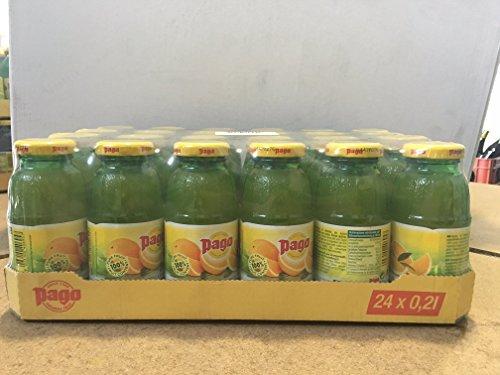 Pago® Fruchtsaft, Orange, Flasche, 24 x 0,2 l (24 Flaschen), Sie erhalten 1 Packung á 24 Flaschen