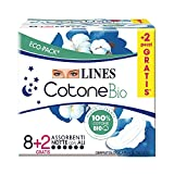 Lines Cotone Assorbenti Notte x8+2