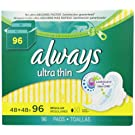 Always Ultra Thin Regular Pads With Wings, Unscented, 48 Count