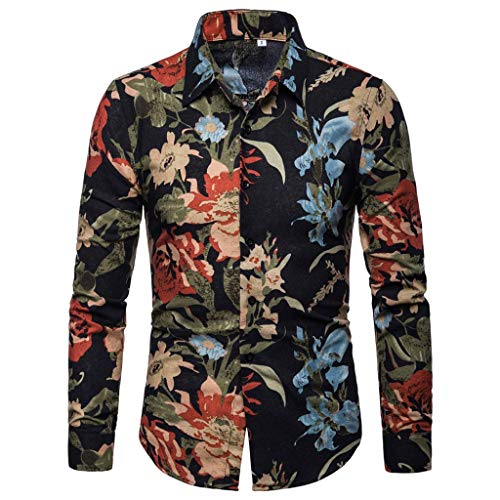 Poachers Camisas de Hombre Manga Larga Camisas Hawaianas Hombre Cerveza Camisas Hombre...