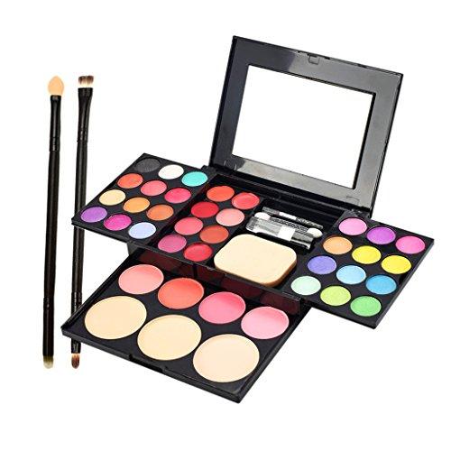 MERIGLARE Coffret Maquillage Avec Pinceaux Set Fard à Paupières Foundation Concealer Rouge Lip Gloss