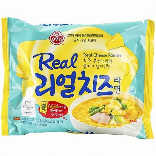 Echtkäsenudeln Koreanische Ramen, Echte Käsesauce 130g (Pack of 4)