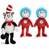 Aurora Plush Bundle of 3, 20' Cat in the Hat, and 12' Thing 1 & 12' Thing 2
