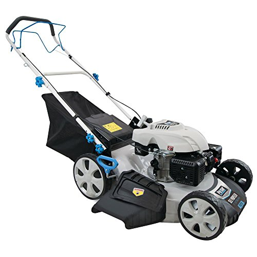 "Pulsar 3-in-1 Self-Propelled 21"" 173cc Gas Recoil Start Walk Behind Lawn Mower, PTG1221S, White"