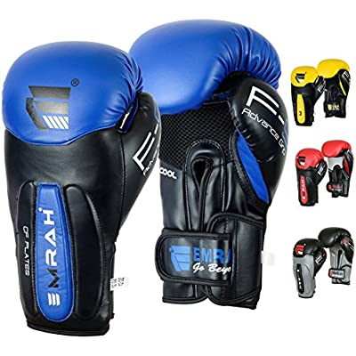 EMRAH Women Boxing Gloves Gel Sparring Glove Punching Bag Ladies Mitts Training