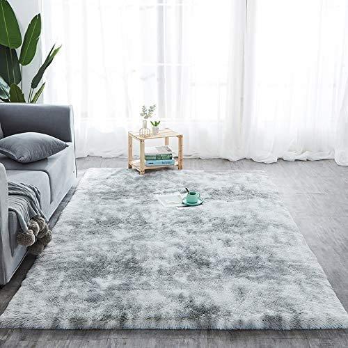 Y & J Kunstpelzdecken für Wohnzimmer weiche Teppiche für den Kindergarten rutschfeste Moderne weiche Plüschteppiche für Schlafzimmer Wohnaccessoires Teppiche für Schlafsäle Babyzimmer Fuzzy-Teppiche