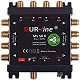 DUR-line Ms 58 B - Eco -Free Power Multi-Switch - Conmutador múltiple para 8 participantes - Bajo Consumo de energía - 0 vatios en Espera Multiswitch [Digital, HDTV, Full HD, 4K, Uhd]