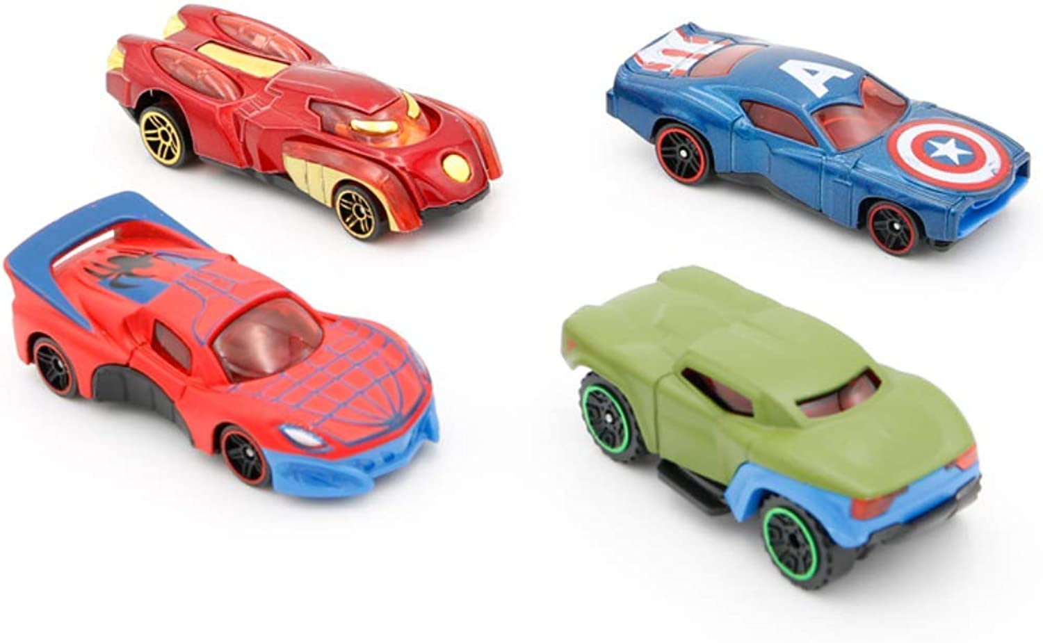 Auch 4-Pack Super Hero Theme Toy Race Cars Roadster Vehicles for Kids Birthday Party Favors Goody Bags