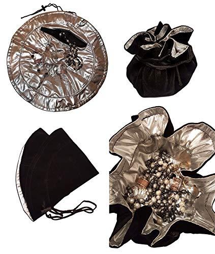 Beauty case da viaggio | Organizer per gioielli | borsa per il trucco da borsetta | trousse con coulisse | beauty case da viaggio | Trousse da trucco per vacanze | Ø aperto – 39 cm