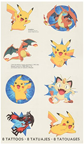 Amscan Cute Pikachu and Friends Birthday Party Temporary Tattoos ...