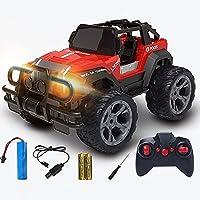 大人の子供のためのRCカー、ライト付きリモートコントロールカー、20 KM/H高速、2.4Ghzラジコン、キッズボーイのためのリモートコントロールカートラックおもちゃギフト