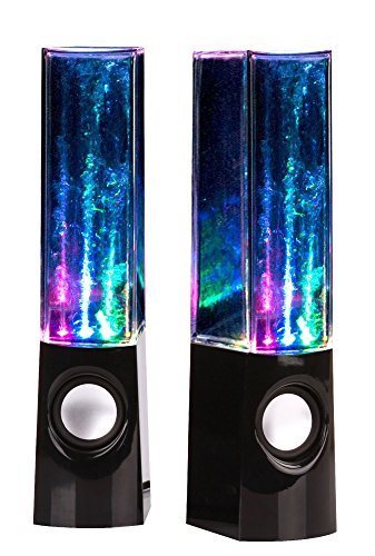 uTronix Plug and Play LED Fountain Multi-Color Illuminated Dancing Water Speaker for iPad, iPod,...