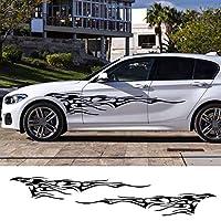 ZYHZJC 車のドアサイドステッカービニールフィルム装飾スポーツスタイリングデカール自動車炎大グラフィックチューニング 210cmx37cm