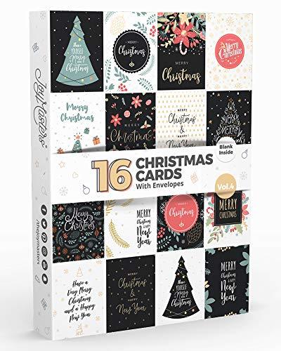 16 Joy Masters™ Weihnachtskarten Vol.4 | Weihnachtsgrußkarten für Kinder und Erwachsene