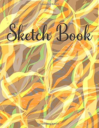 Sketch Book: 150 Blank Pages Workbook For Doodling, Drawing, Painting, Sketching & Writing - ( Abstract Marbled Cover)