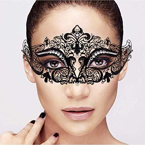 kexin lin Venezianische Maske,Metall Strass Maske Venezianische Maske Cosplay Halloween Costume Party Maskerade Maske