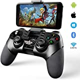 Mocoe Mobile Game Controller, Bluetooth & 2.4G Wireless Gamepad, Gaming Joystick Suitable for iPhone/iOS/Android/PC/PS4, for Most Popular Game(PUBG/Fortnite/Call of Duty) Gaming Grip