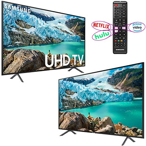 "Samsung Smart TV 58"" inch 4K UHD Flat Screen TV (UN58RU7100FXZA) with HDR, Google, Apple"