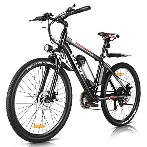 Vivi Bicicletta Elettrica Bici Elettrica da 26 Pollici, 350 W Bici Elettriche Mountain Bike Elettrica Uomo e Donna, con Batteria al Litio Rimovibile da 36 V 8 Ah, Cambio Shimano a 21 Marce