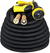 IDESION 50ft Garden Hose Pipe Expandable Magic Hose Stretch Water Hose Pipe with 9 Function Spray Gun [Updated Version]