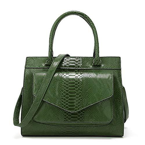 Women's Handbag 2020 New Snake Pattern Fashion Ladies Bag Simple Atmosphere Shoulder Bag Fashion All-Match Bag,Green