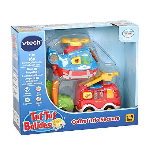 Vtech Tut Tut Bolides - 80-205805 - Coffret Trio Pompiers : LEO + GAETAN + BARNABE - Modèle aléatoire - Version...