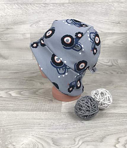 Sonnenhut inkl Nackenschutz 41-54 Jersey mütze grau Traktor kopftuch, Sonnenschutz baby, Schirmmütze, sommermütze