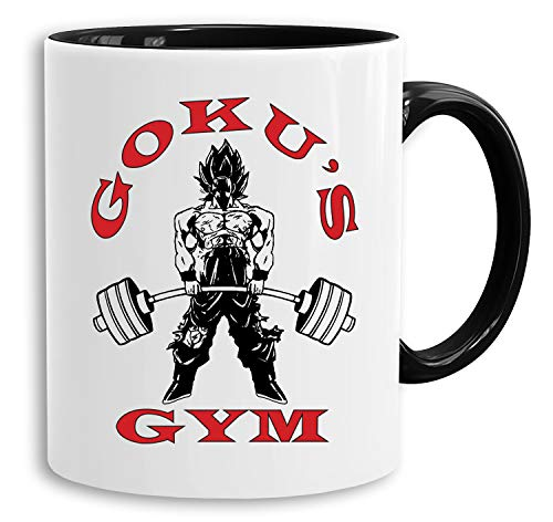 Goku Golds - Tasse Kaffeetasse Son Ruffy Luffy Naruto Saitama One Dragon Master Goku Ball Vegeta Roshi Piece Db, Farbe:Weiß