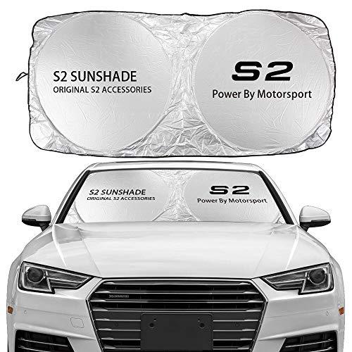 JHSHOP Parasol para Coche Windshield Sun Shade Cubierta Compatible con Audi A3 8P 8V A4 B8 B6 A6 C6 A5 S1 S2 S3 S4 S4 S5 S7 S8 S8 SQ5 SQ7 Accesorios Anti UV Protector Sombrilla (Color : For S2)