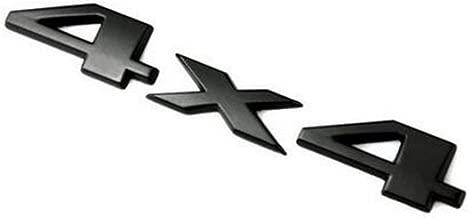 4x4 Schriftzug Emblem Schwarz 14,5 x 3 cm Aufkleber 3D Klebefl/äche