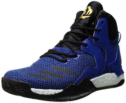 adidas Men's Shoes | D Rose 7 Basketball, Blue/Black/Metallic Gold, (14 M US)
