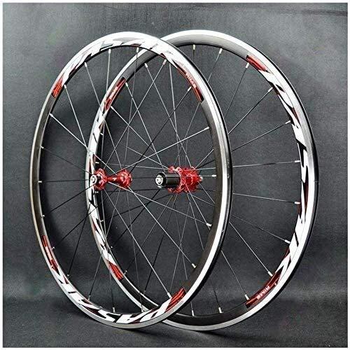 LILIS Ruedas De Bicicleta,llantas bicicleta Bicicleta de carretera de ruedas de la rueda delantera de la bici 700C rueda trasera 30 mm de doble pared bicicleta rueda de aleación de ruedas de liberació