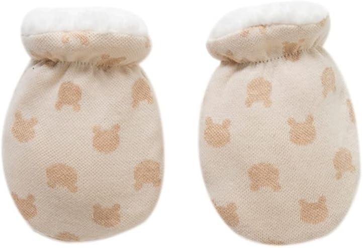 WBDL Newborn Gloves Winter Baby Anti-Grab Mittens Full Finger Boys Girls Thicken Warmer Fleece Gloves Toddler Infant Mittens 118 cm