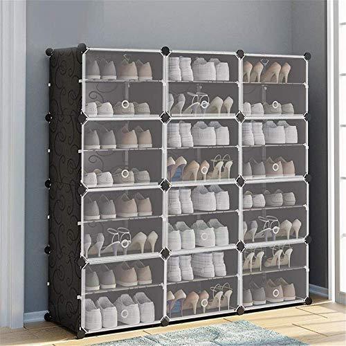Decoración de muebles Caja de zapatos plegable Caja de zapatos Caja de zapatería Gabinete de zapatos con puerta Multi-capa Zapato Estante Simple Space-Saving Shoes Económico Multi-capa Asamblea de plá