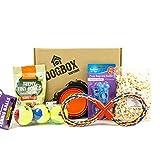 DogBox Boutique Caja de regalo para perro DogBox con 6 artículos perfecta para cumpleaños, Navidad o un regalo mensual – explosión de golosinas, juguetes y accesorios…