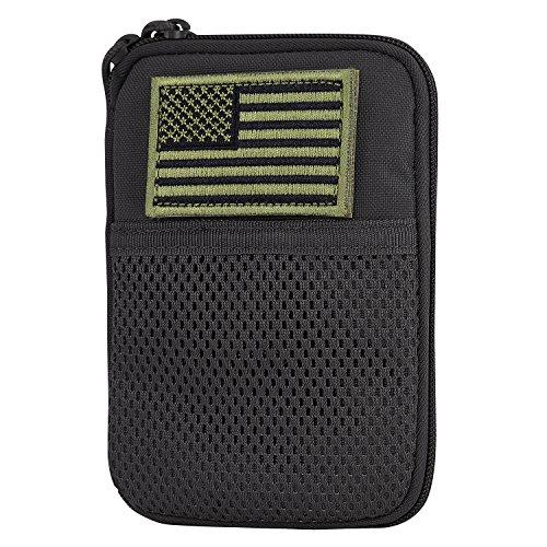 Condor Pocket Pouch US Patch (Black, 7.25 x 5-Inch)