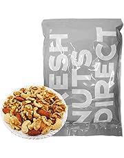 ミックスナッツ 1kg 大粒3種(新物生くるみ、素焼きカシュー、素焼きアーモンド) 無塩 無添加 食物油不使用 チャック袋入り アシストフード