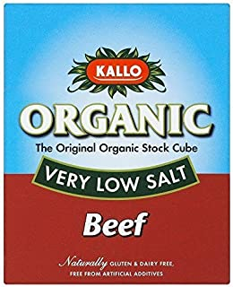 Kallo Organic Very Low Salt Beef Stock Cubes (51g) by Kallo