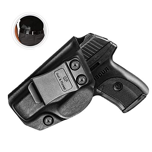 Ruger LC 380 Holster, IWB KYDEX Holster Fit: Ruger LC9 / LC9s / Ruger LCP 380 / Ruger EC9s Concealed Carry Holster | Inside Waistband Holster | Adj. Cant & Retention | US KYDEX Made | Right Hand