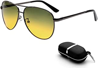 huasida Gafas polarizadas Gafas de conducción nocturna Gafas de sol antideslumbrantes HD para hombres y mujeres de moda