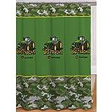 John Deere Shower Curtain Big Tracks Fabric 72'x72'
