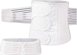 HOMWE 2 in 1 Postpartum Support Recovery Belly Wrap Waist/Pelvis Belt Body Shaper Postnatal Shapewear