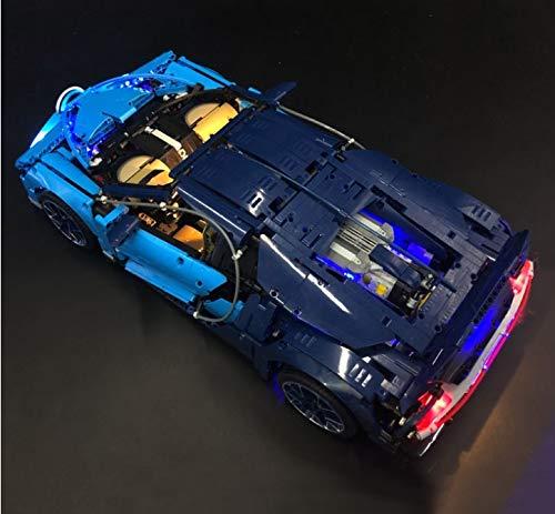Daniko LED Beleuchtungsset Licht-Set passend für: (Lego Bugatti Chiron Modell 42083) (Modell Nicht Enthalten)