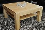 Holz-Projekt-Summer Couchtisch-Tisch mit Ablage Zarge bündig Ahorn/Echtholz/Massivholz/Höhe 42 cm (60x60)