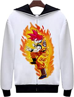 FunStation Top for Dragon Ball Cosplay Costume Pullover Sweatshirt Hoodie Jacket with Zipper