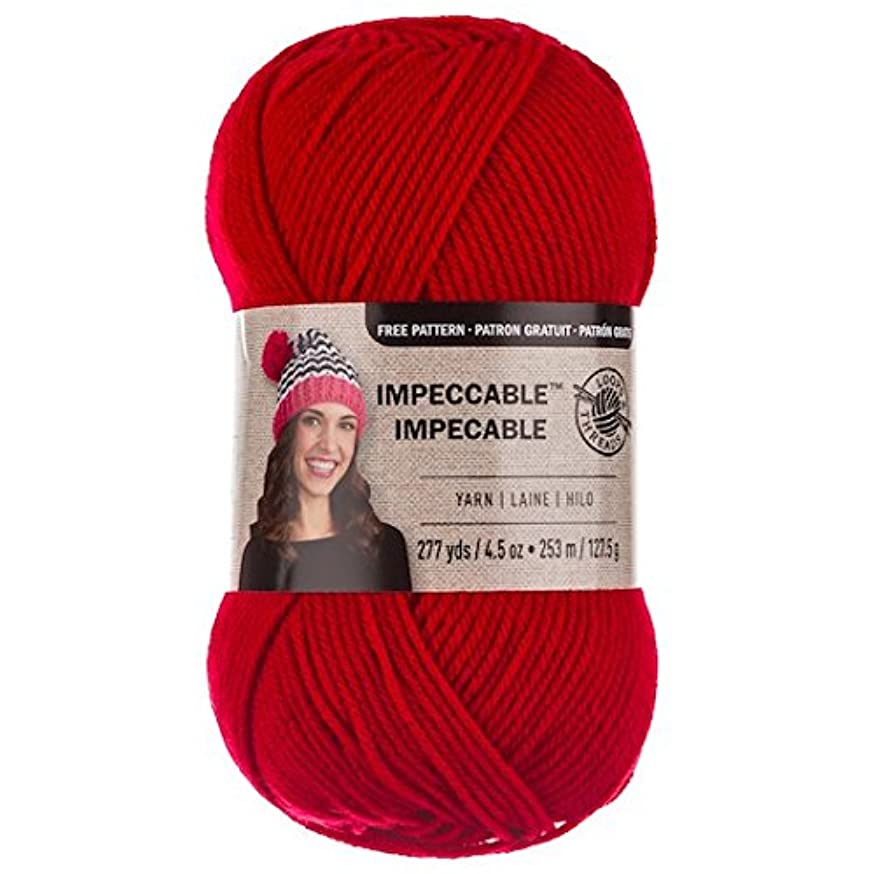 Loops & Threads Impeccable Yarn 4.5 oz. One Ball - Red Hot