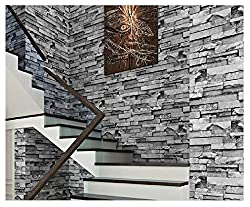 Blooming Wall: 3D Faux Cultural Brick Stone Wallpaper